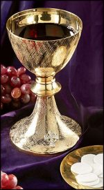 celtic cross chalice and paten