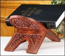 Carved Rosewood Bible Stand