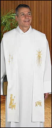 Christmas Clergy Overlay Stole