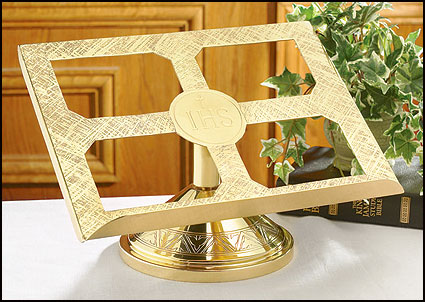 IHS Brass Missal Stand for Altar