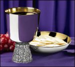 Last Supper Chalice and Bowl Paten