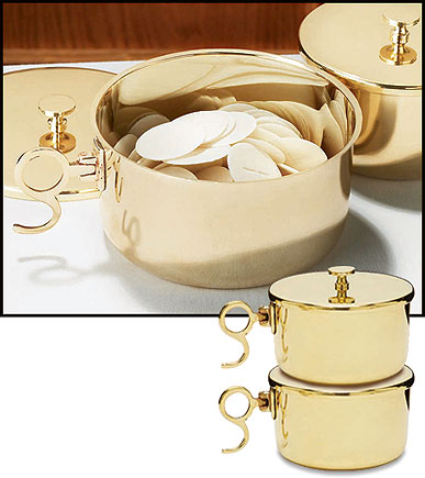 1000 Host Brass Stacking Ciboria with Lid