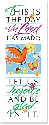 This is the Day Scripture Church Banner