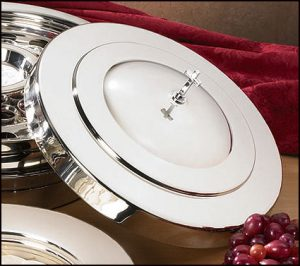 Silver Finish Communion Tray Cover