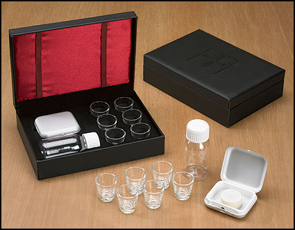 6-Cup Portable Communion Set for Clergy