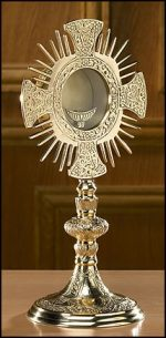 Cross and Rays Monstrance with Luna