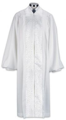 Jacquard Trimmed White Pulpit Robe
