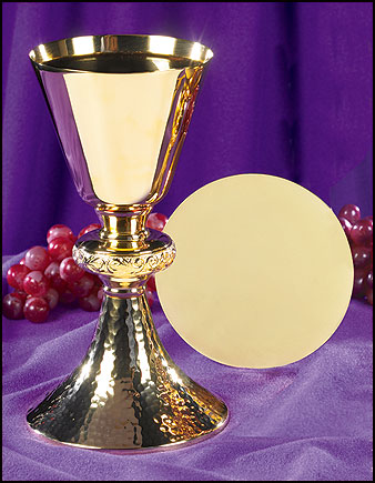 ornate node chalice and paten