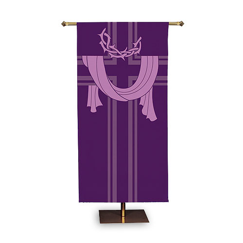 Crown of Thorns Lenten Church Banner