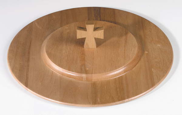 Handcrafted Pecan Communion Tray Cover