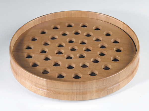 Handcrafted Pecan Stain Communion Tray