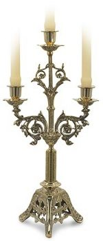 3 Branch Church Candelabra