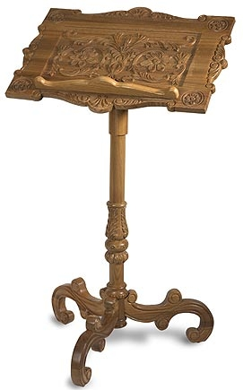 Carved Wood Lectern for Church