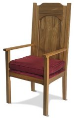 Celebrants Chair for Altar with Foam Seat