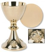 Grape Cluster Design Chalice and Paten Set