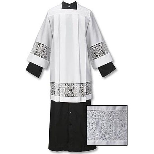 Latin Cross and IHS Lace Surplice