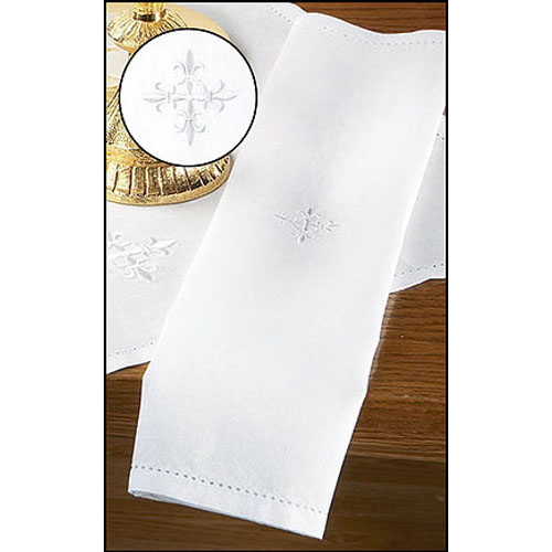Linen Lavabo Towel with Cross