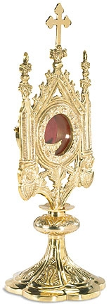 Ornate Monstrance with Removable Luna