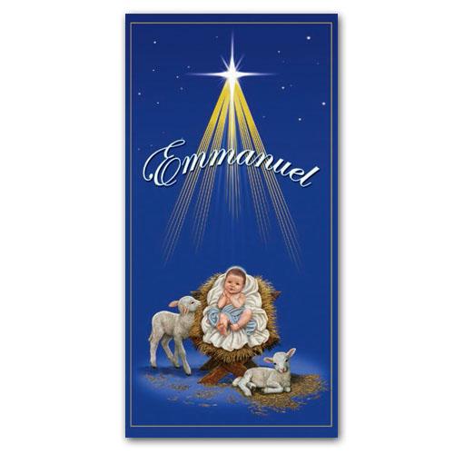 Emmanuel Christ Child Christmas Banner