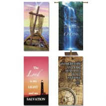 Inspirational Church Banners Set of Four