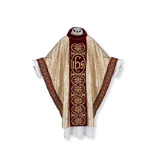 Gold Jacquard Embroidered Chasuble