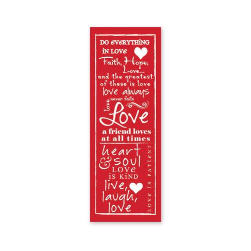 Written Reflections Love Scripture Church Banner