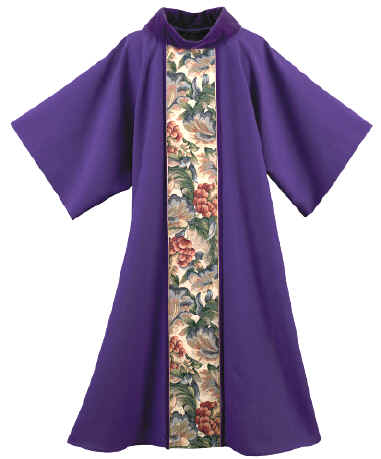 Advent Purple Deacon Dalmatic Floral Tapestry