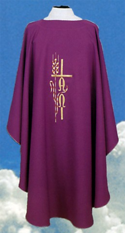 Alpha Omega Cross Clergy Chasuble Vestments