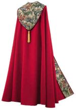 Bishop Clergy Cope Red Floral Tapestry