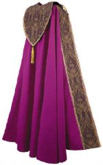 Bishop Clergy Cope Royal Purple Tapesty