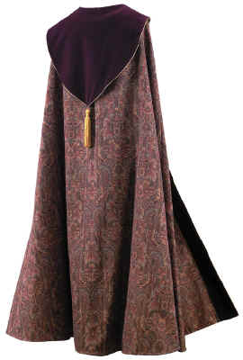 Bishop Clergy Cope Tapestry Maroon Velvet