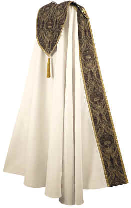 Bishop Clergy Cope Tapestry on Cream