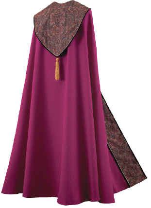 Bishop Clergy Cope Tapestry on Royal Purple