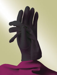 ladies black church gloves