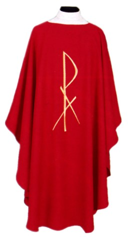 Chi Rho Clergy Chasuble Vestments