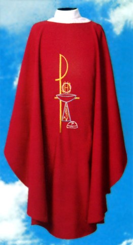 Chi Rho Communion Chalice Clergy Chasuble Vestments
