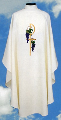 Chi Rho Grapes Clergy Chasuble Vestments