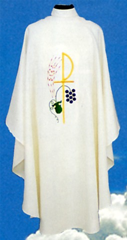 Chi Ro Cross Clergy Chasuble Vestments
