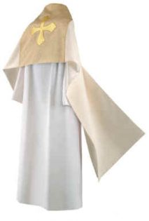 Clergy Humeral Veil Gold with Gold Maltese Cross
