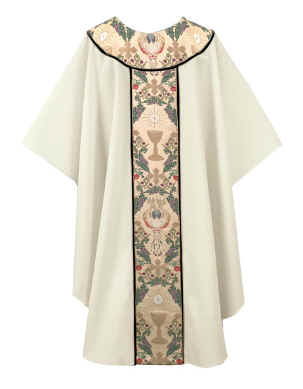 Communion Chalice Host Tapestry Clergy Chasuble Vestments
