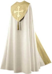 Cream with Metallic Gold Trim Bishop Clergy Cope