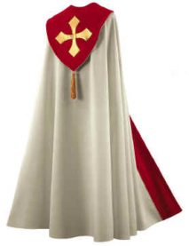 Cream with Red Trim Bishop Clergy Cope