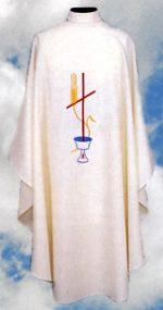 Cross Chalice Wheat Clergy Chasuble Vestments