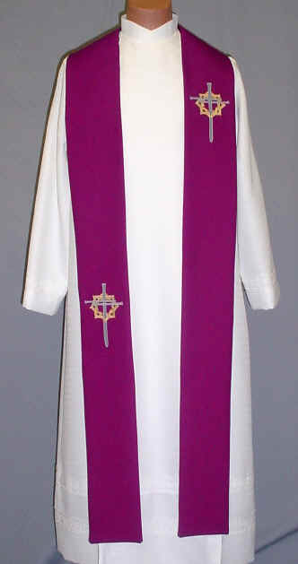 Cross and Crown Clergy Overlay Stole
