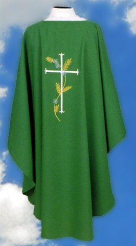 Cross and Wheat Clergy Chasubles Vesments