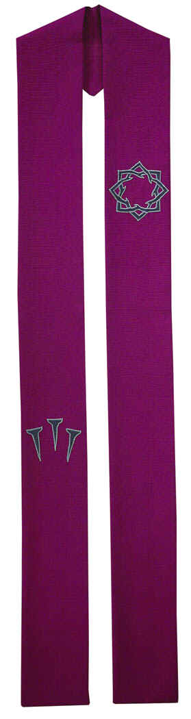 Crown of Thorns Lenten Clergy Overlay Stole