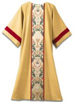 Deacon Dalmatic Gold with Communion Chalice Host Tapestry