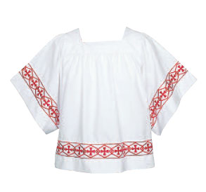 Embroidered Crosses Church Surplice