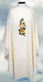 Floral Cross Deacon Dalmatics