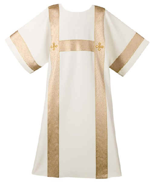 Gold with Crosses Deacon Dalmatic Robe